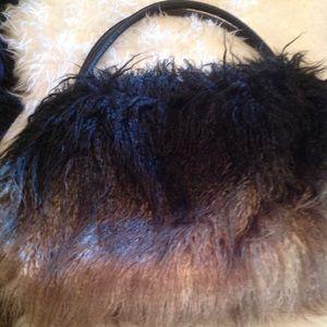 Boho shag faux ostrich bag!